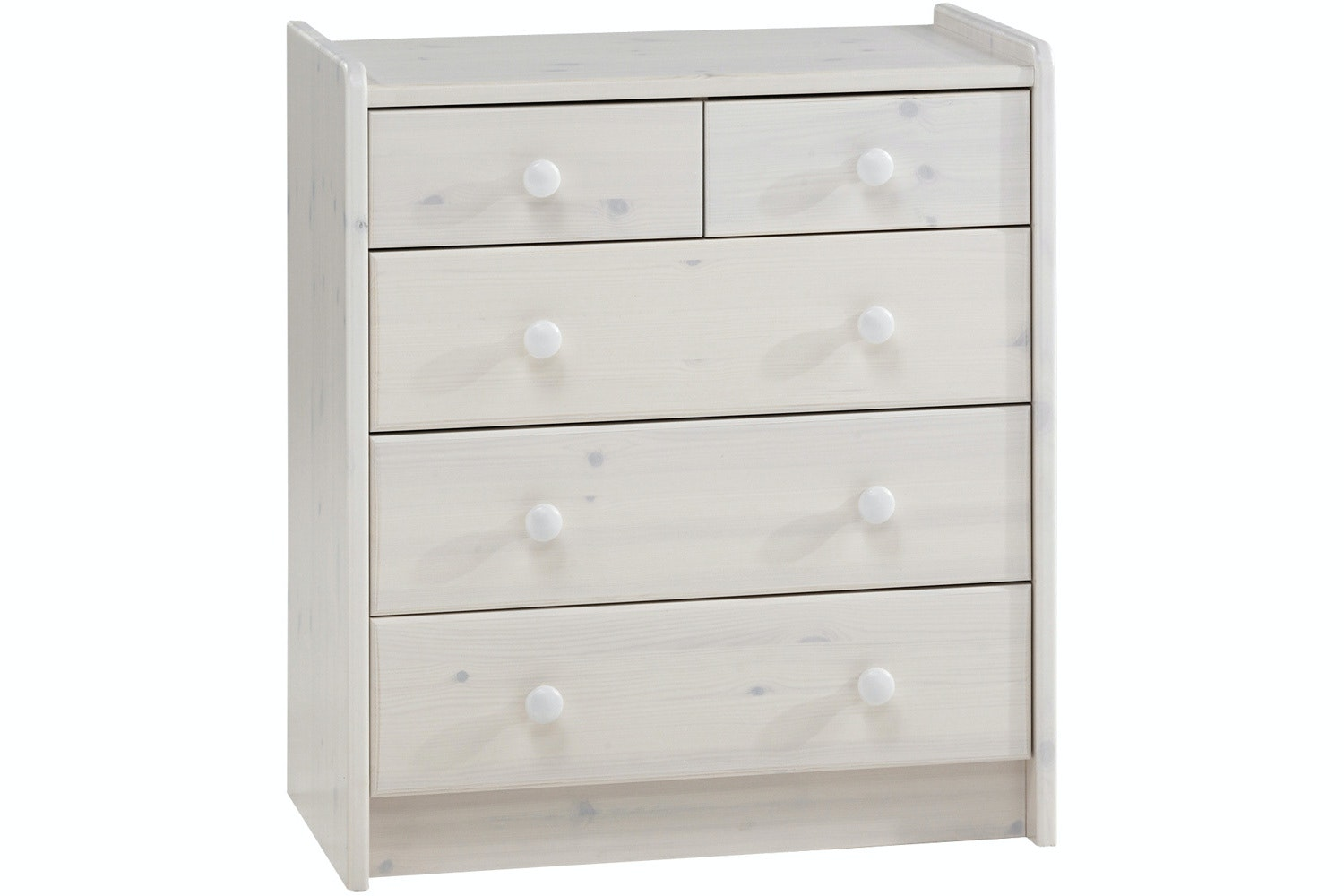 Popsicle 3+2 Drawer Chest White Wash