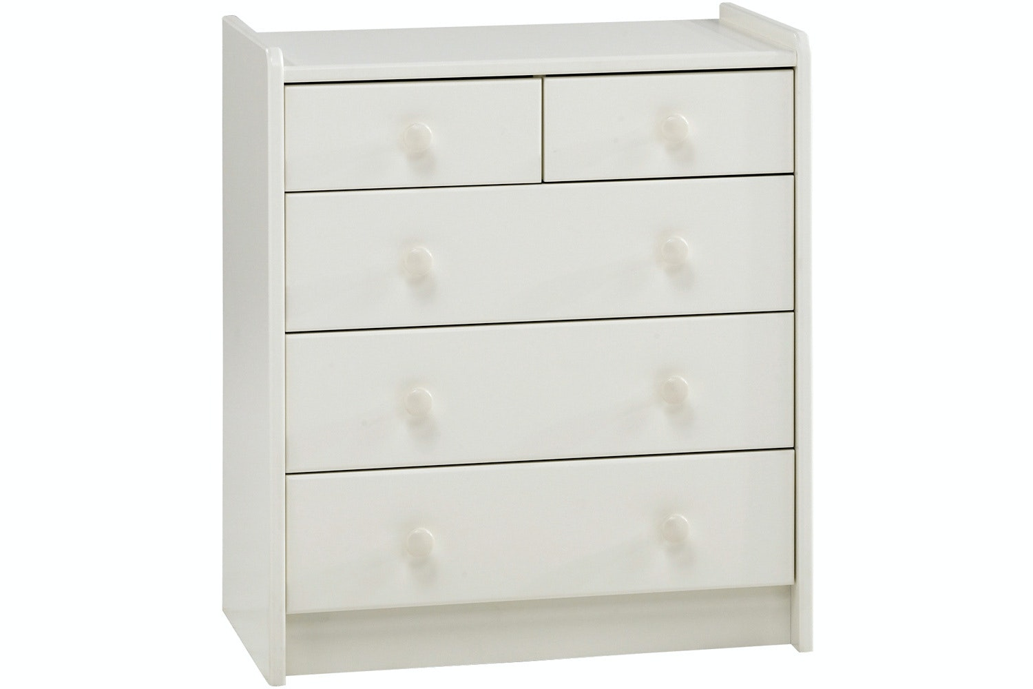 Popsicle 3+2 Drawer Chest | White