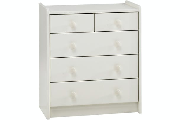 Popsicle Chest 3+2 Chest of Drawers | White