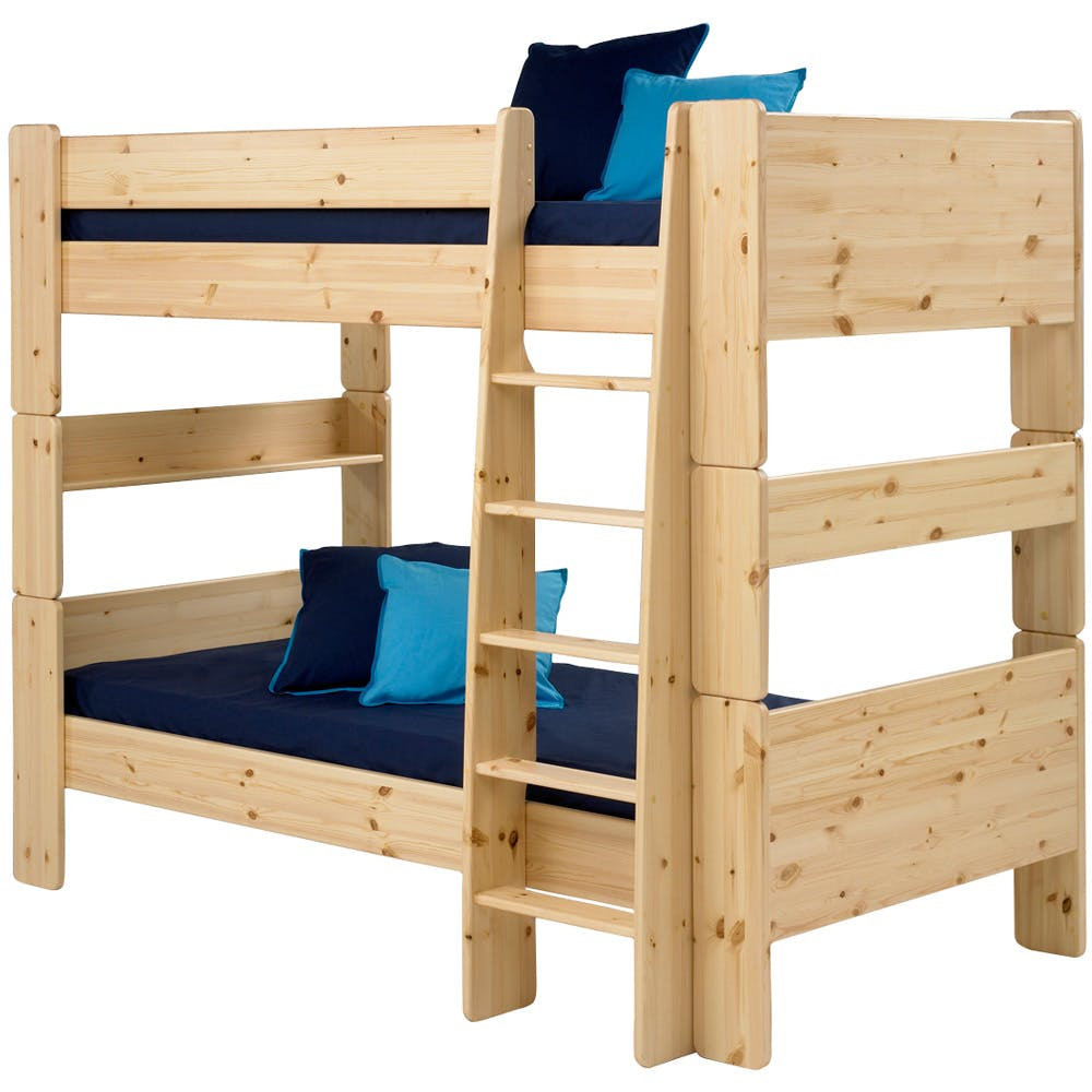 confidence white wood bunk beds for kids others beautiful. Black Bedroom Furniture Sets. Home Design Ideas