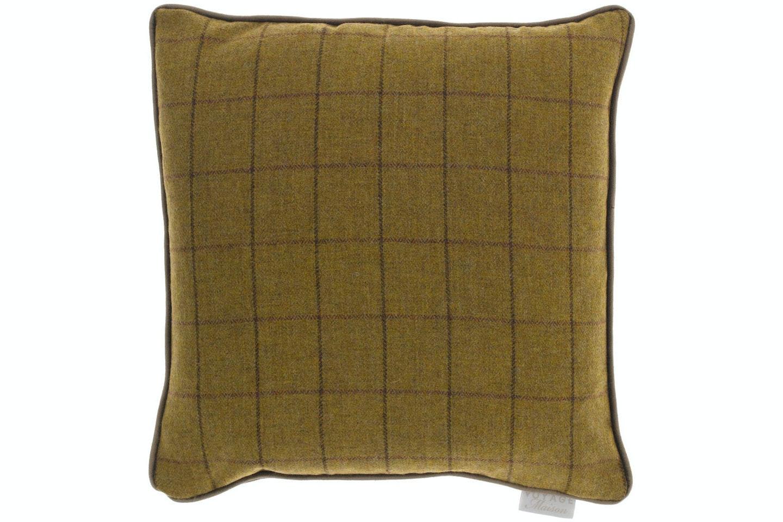 Arran Tweed Cushion | Mustard