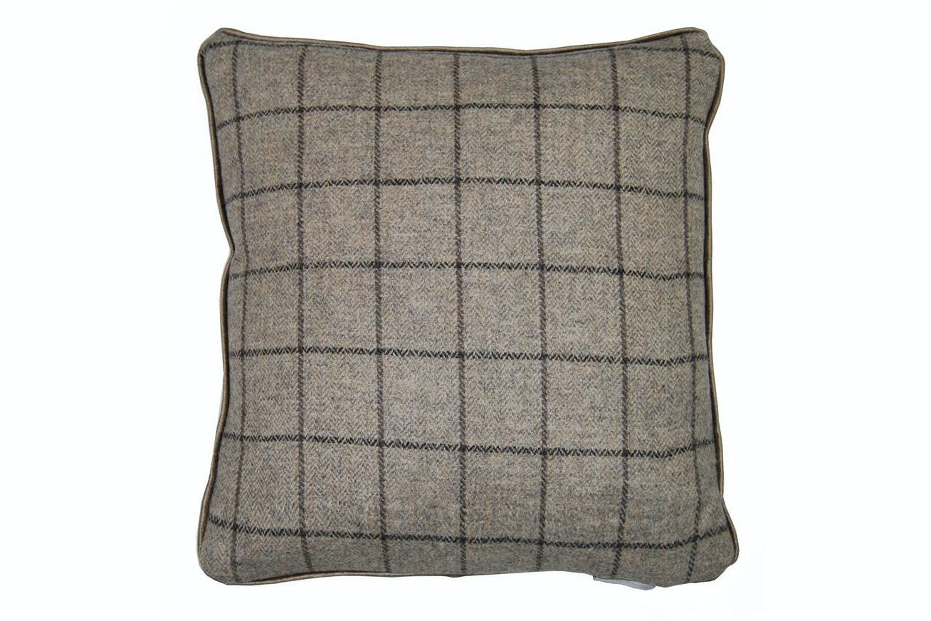 Arran Tweed Cushion | Grey