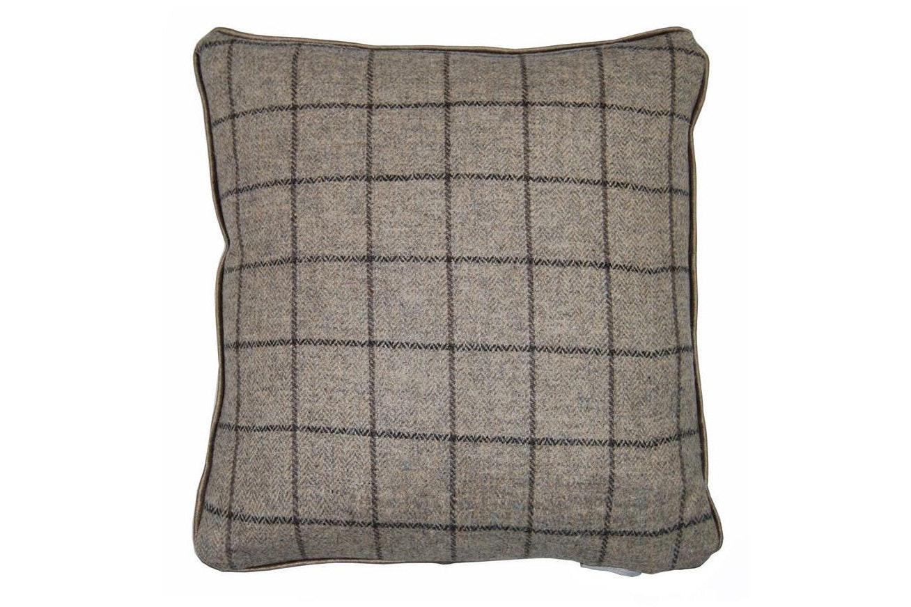 Arran Tweed Cushion | Grey