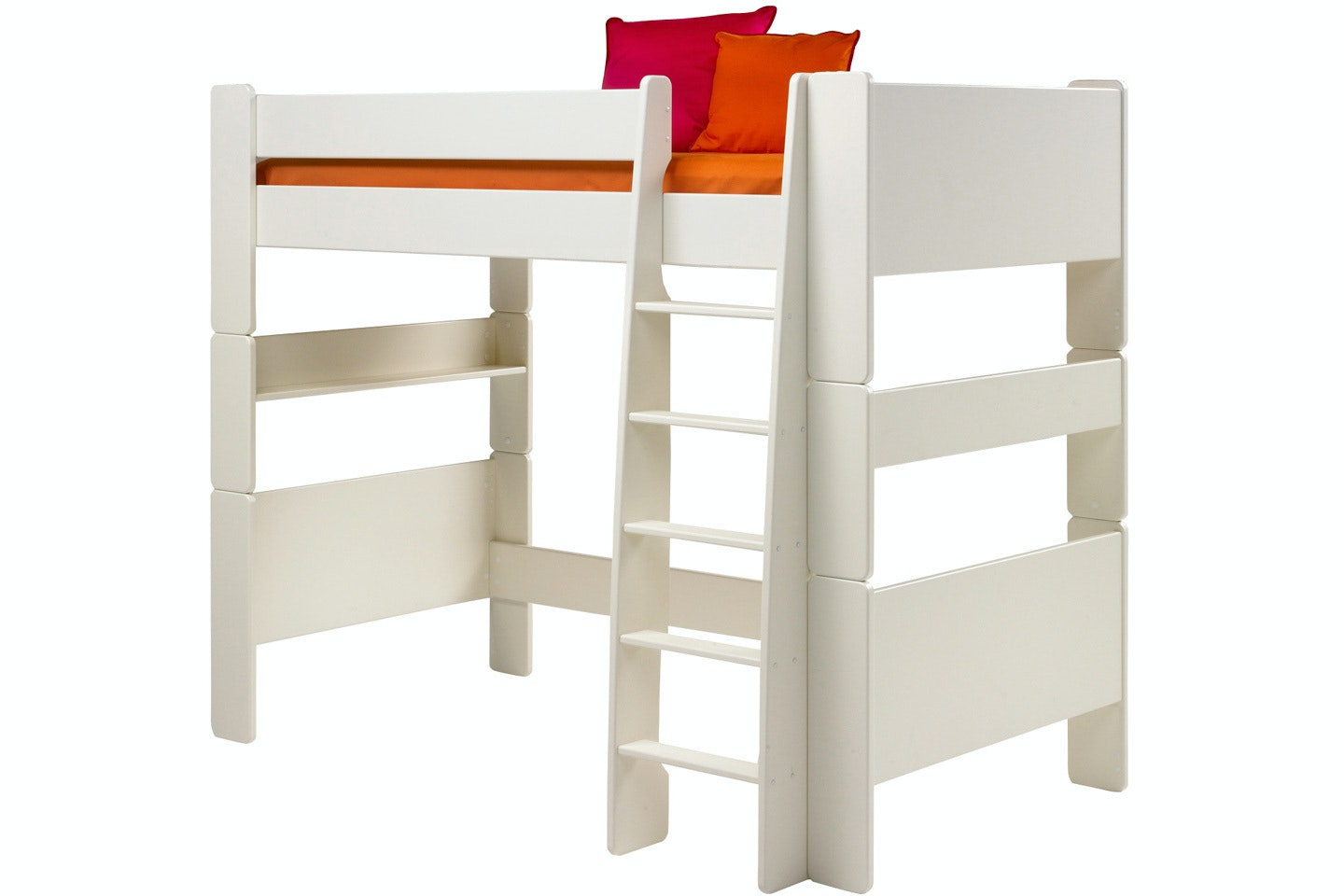 Popsicle High Sleeper Bed Frame White