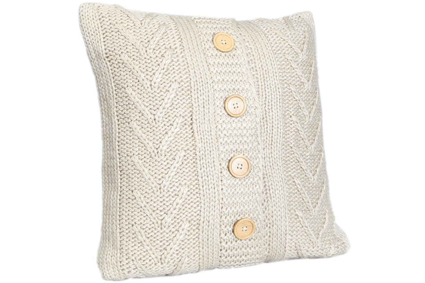 Cable Knit Cushion | Natural