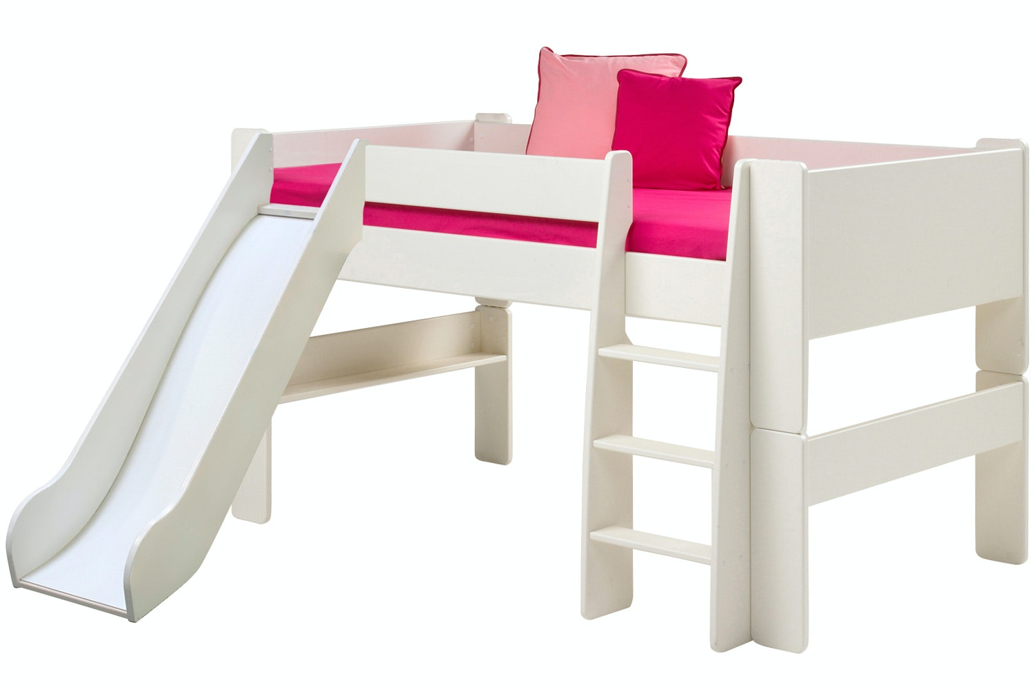 Midsleeper Bed Frame White with Slide