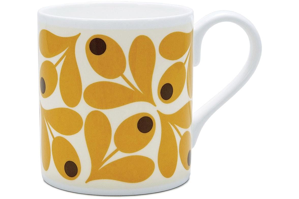 Orla Kiely Acorn Mug | Saffron
