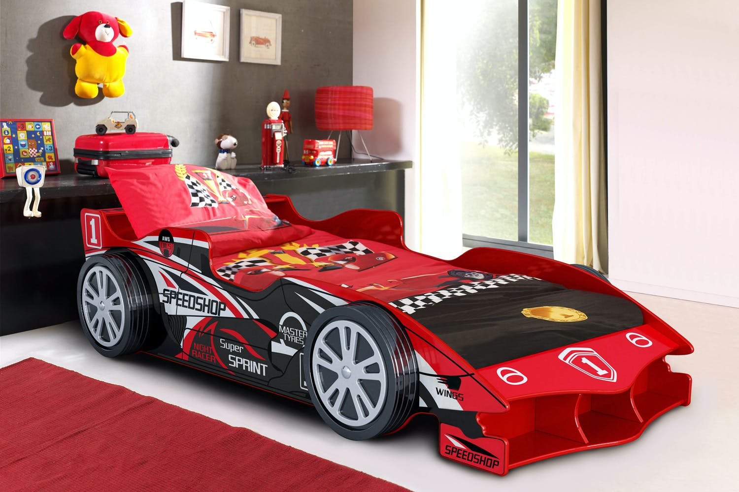 Senna Speed Racer Car Single Bed Frame