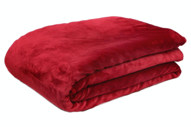 Scarlet Fleece Throw