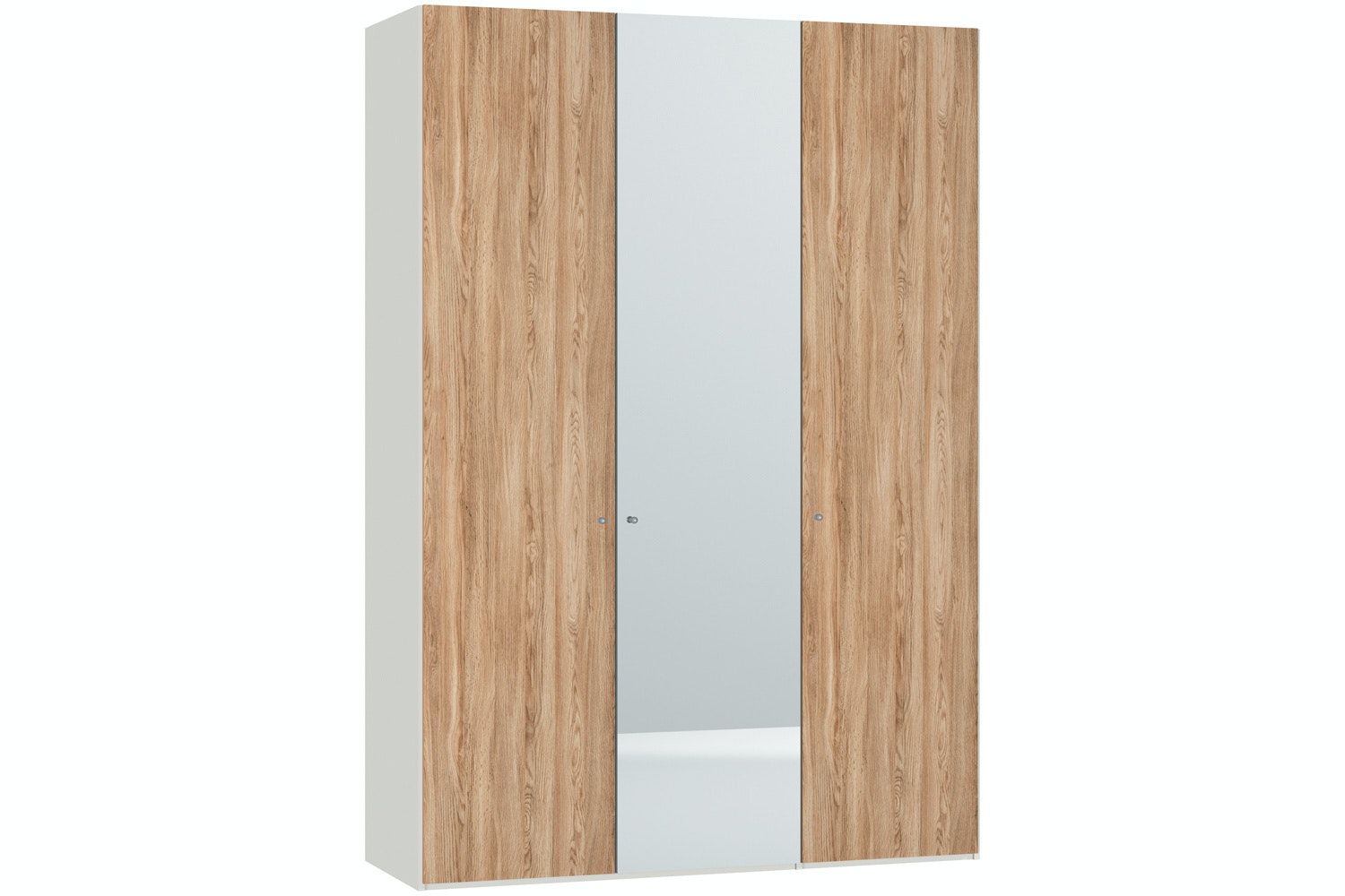Christine Hinged 3 Door Wardrobe 152Cm |Oak + Mirror