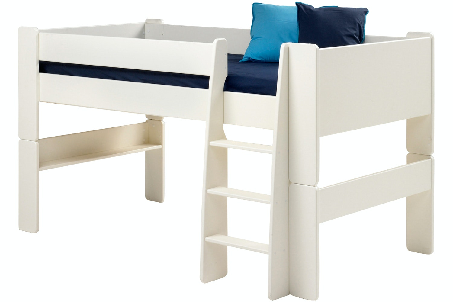 Popsicle Midsleeper Bed Frame White