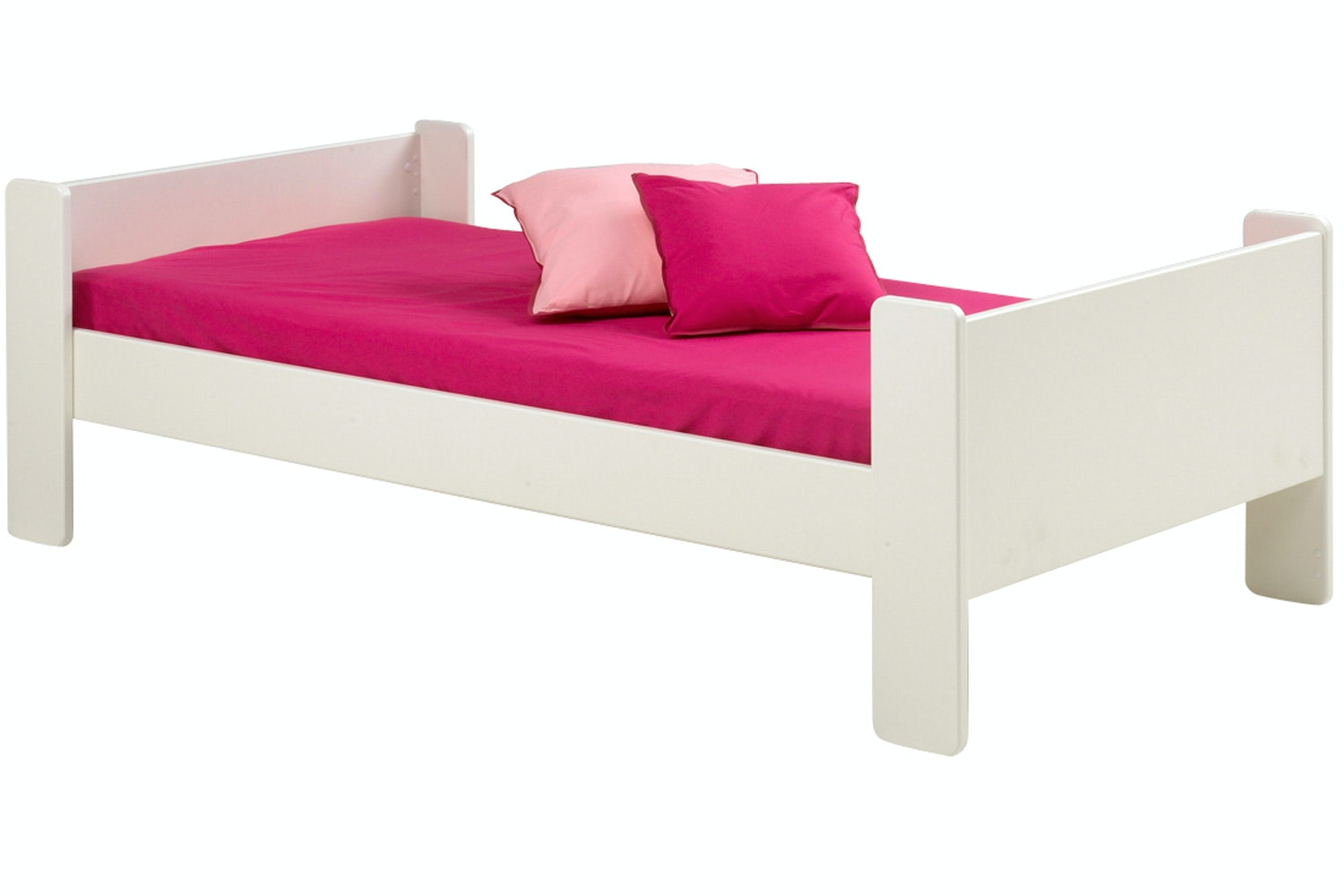 Popsicle Single Bed Frame White