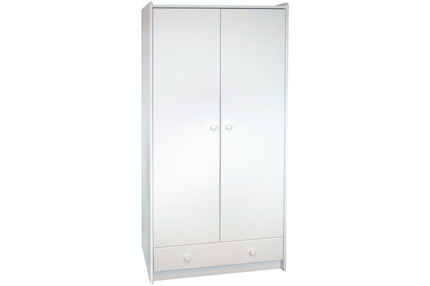 Popsicle Tall Wardrobe White