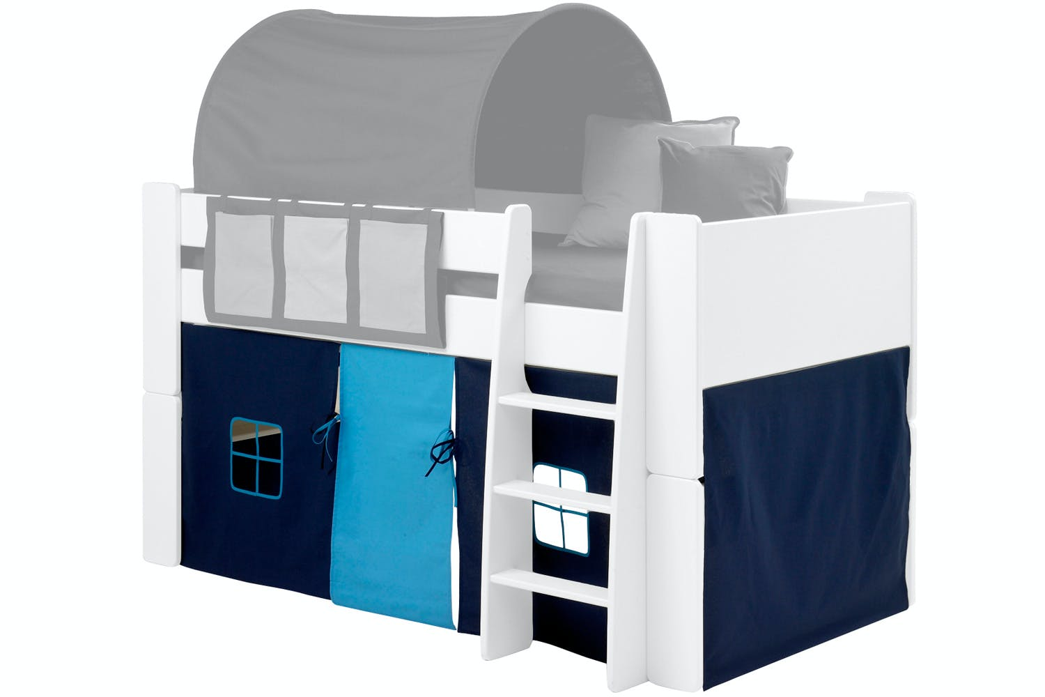 Popsicle Fabric Tent for Midsleeper Bed Blue