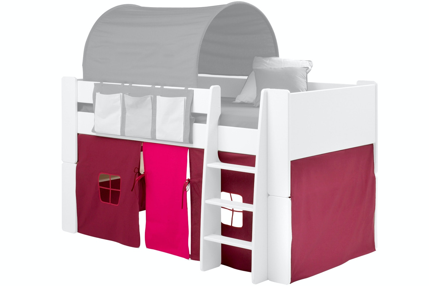 Popsicle Fabric Tent for Midsleeper Bed Purple