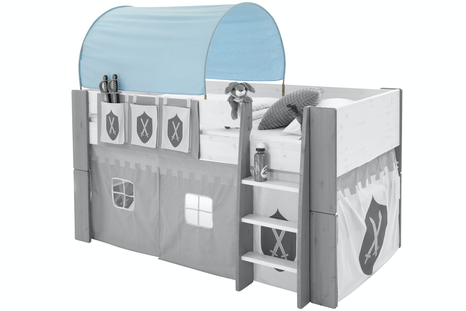 Popsicle Fabric Tunnel for Midsleeper Bed Knight