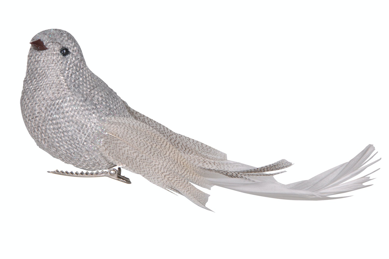Christmas Bird Decoration | Silver