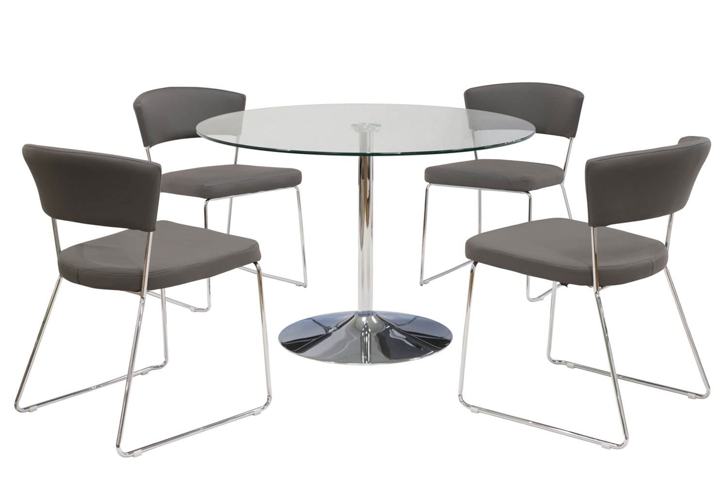 Oregon 5-Piece Dining Set with Morgan Dining Chair