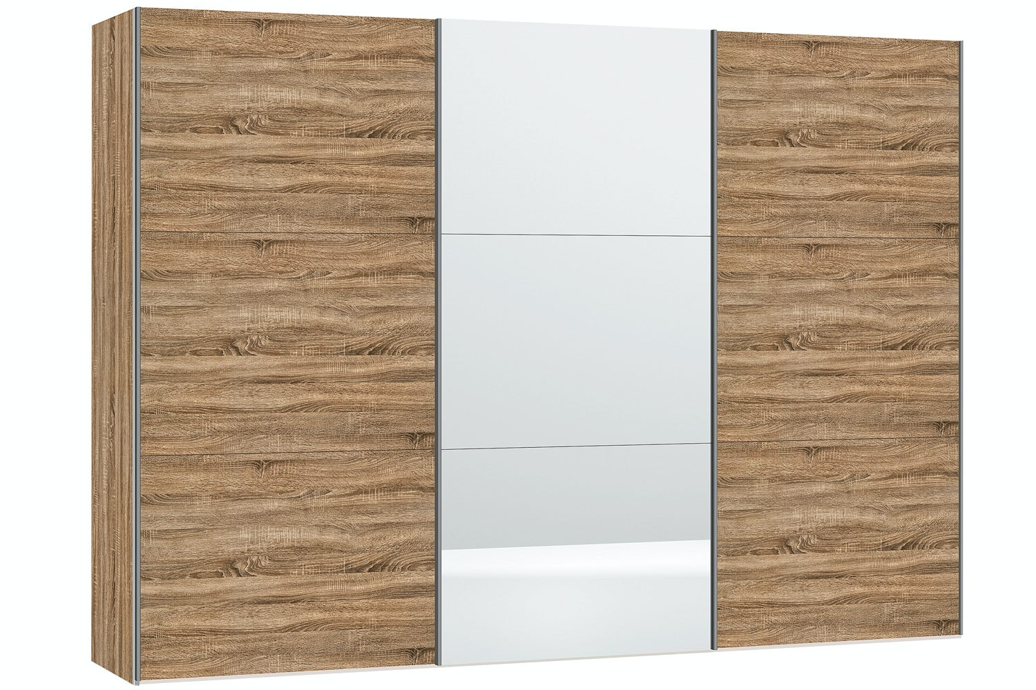 Sofia Sliding Wardrobe 303Cm |Oak + Mirror