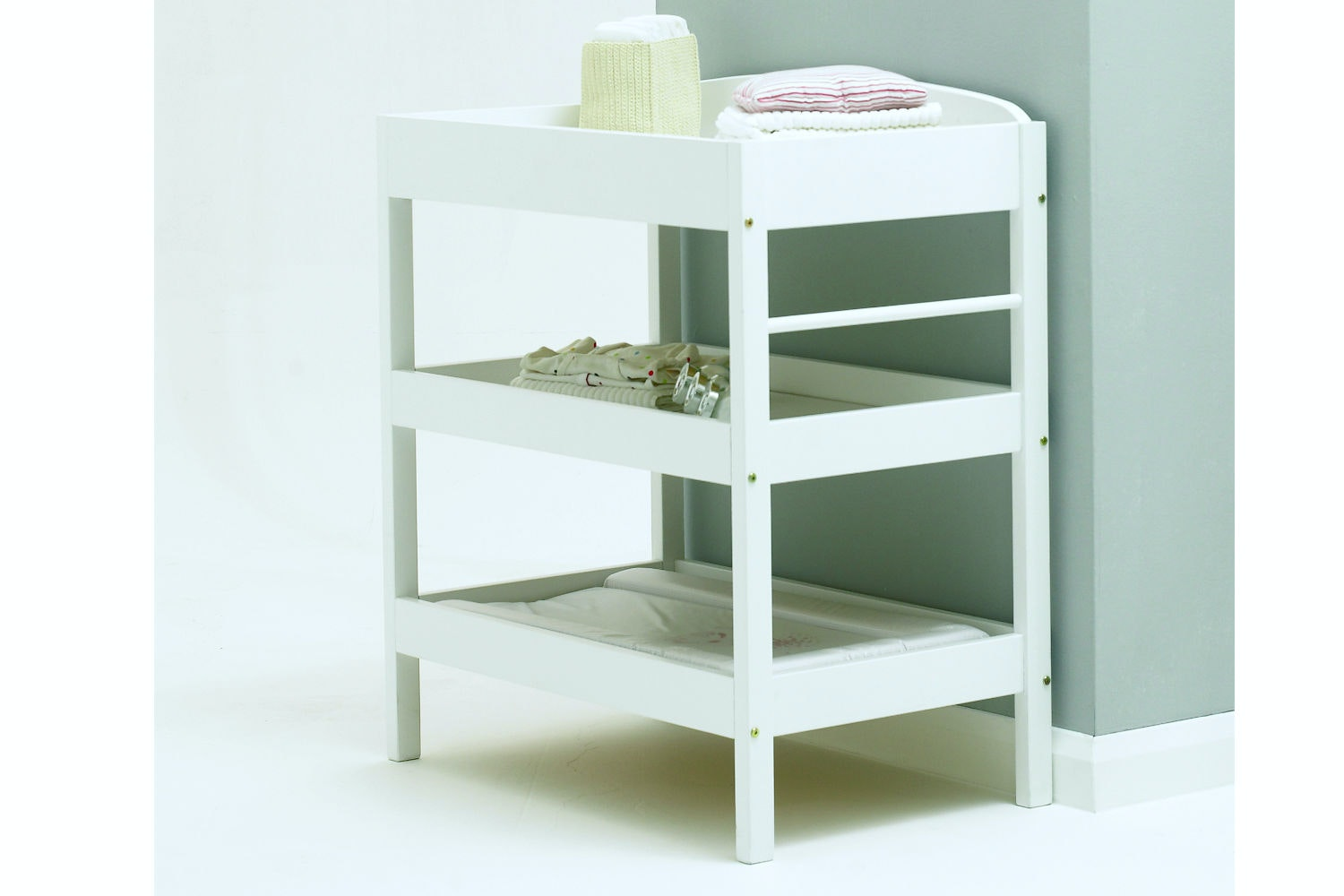 Baby Bumble Open Dresser Changing Table   White
