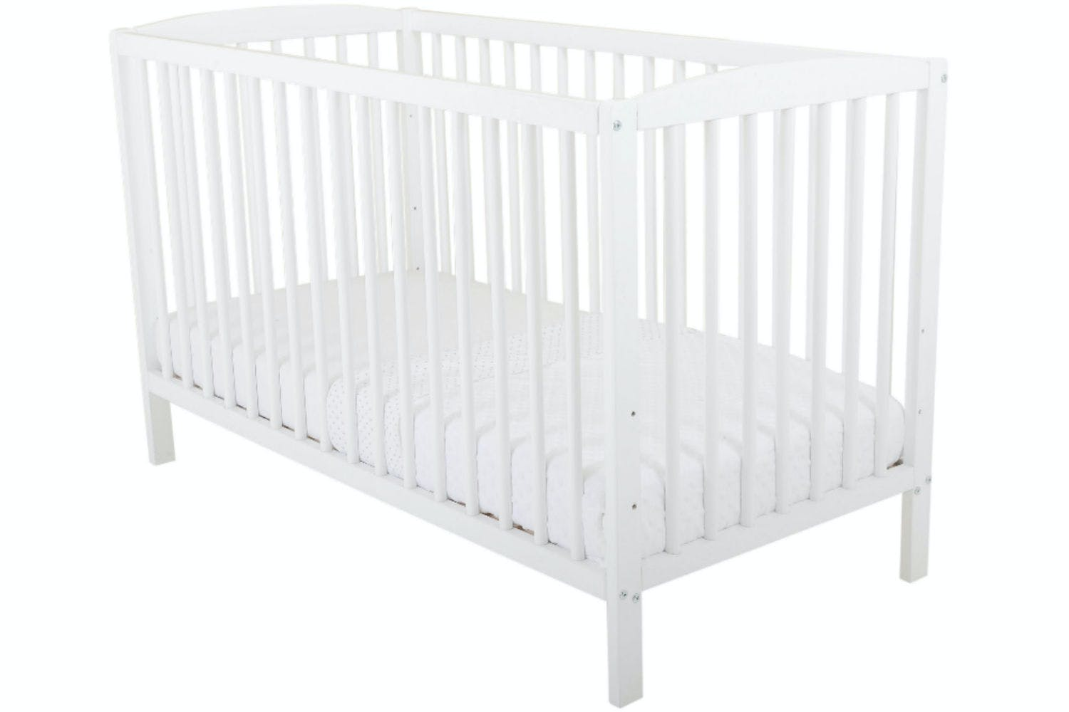 Baby Bumble Cot   White