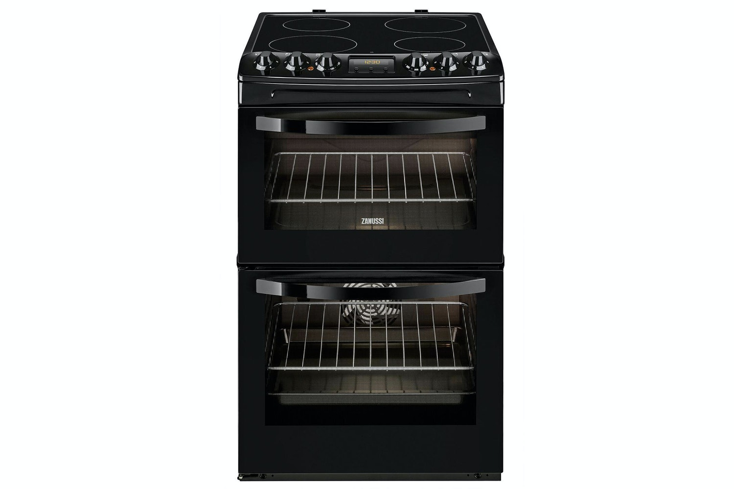 Zanussi 55cm Electric Cooker | ZCV48300BA | Black