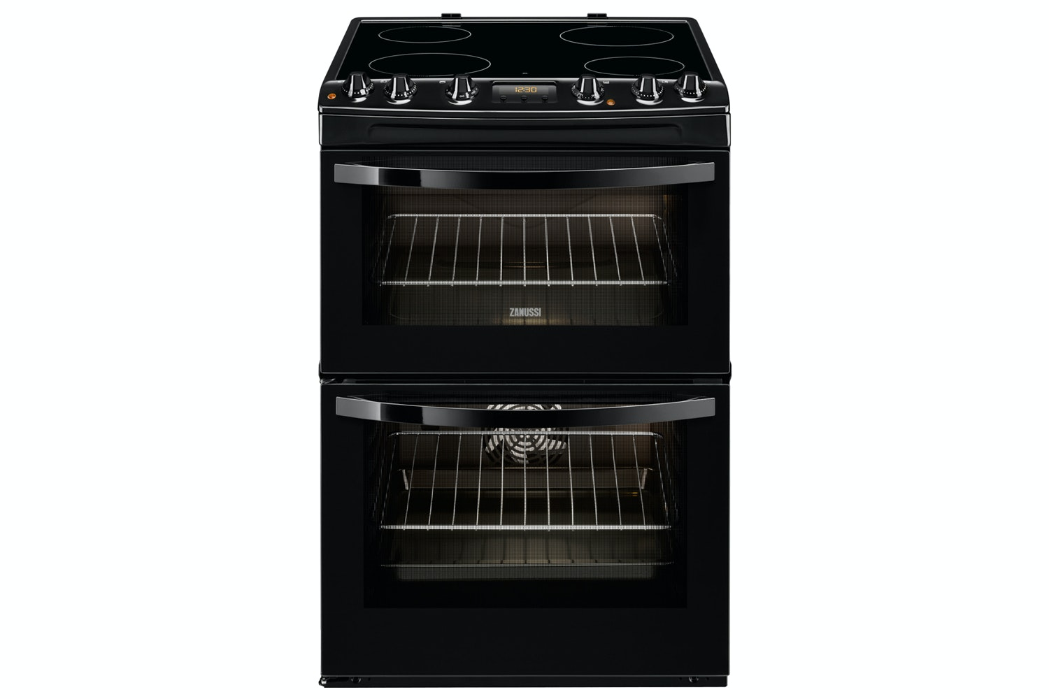 Zanussi 60cm Electric Cooker | ZCV68300BA | Black