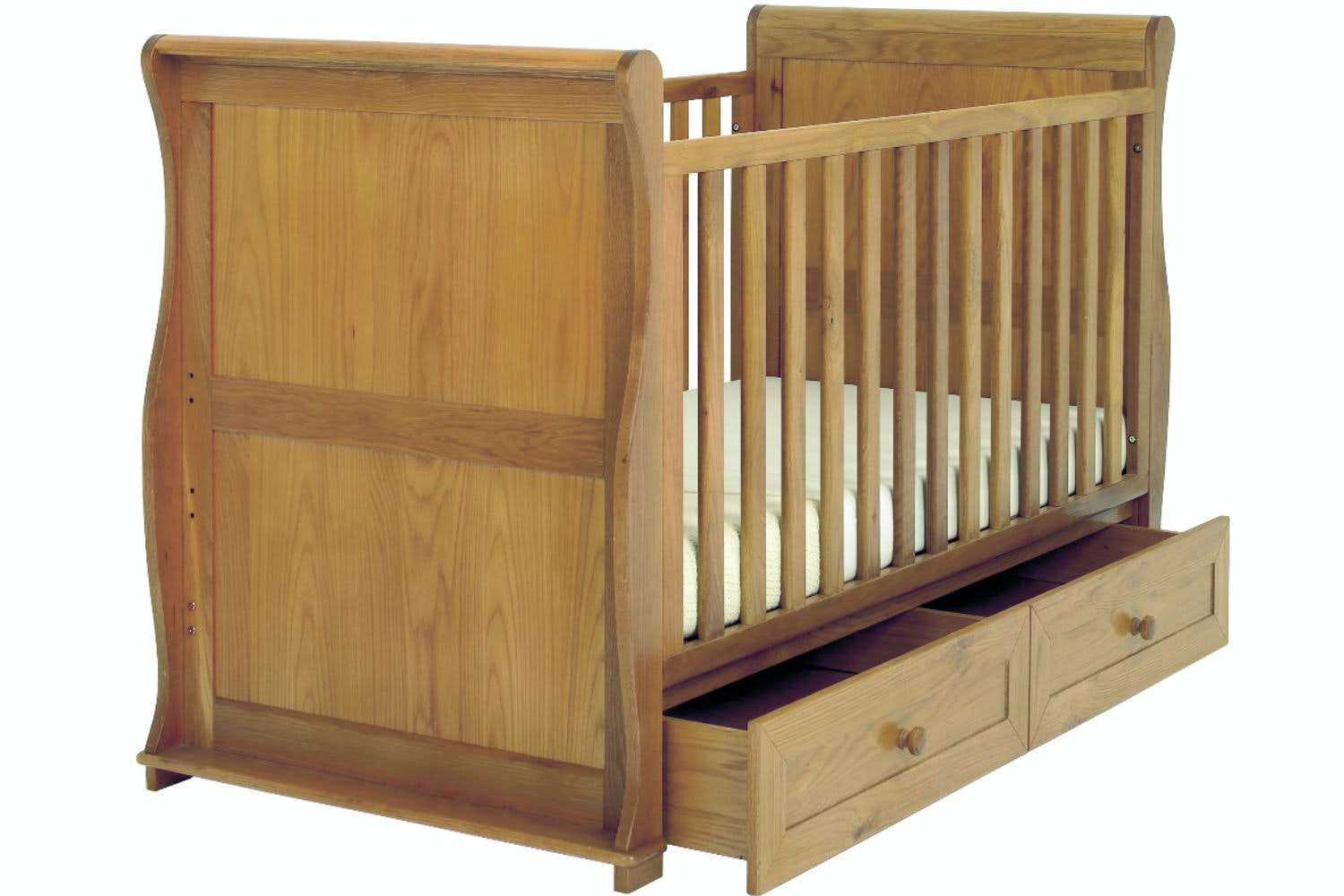 Langham 3-in-1 Sleigh Cot Bed