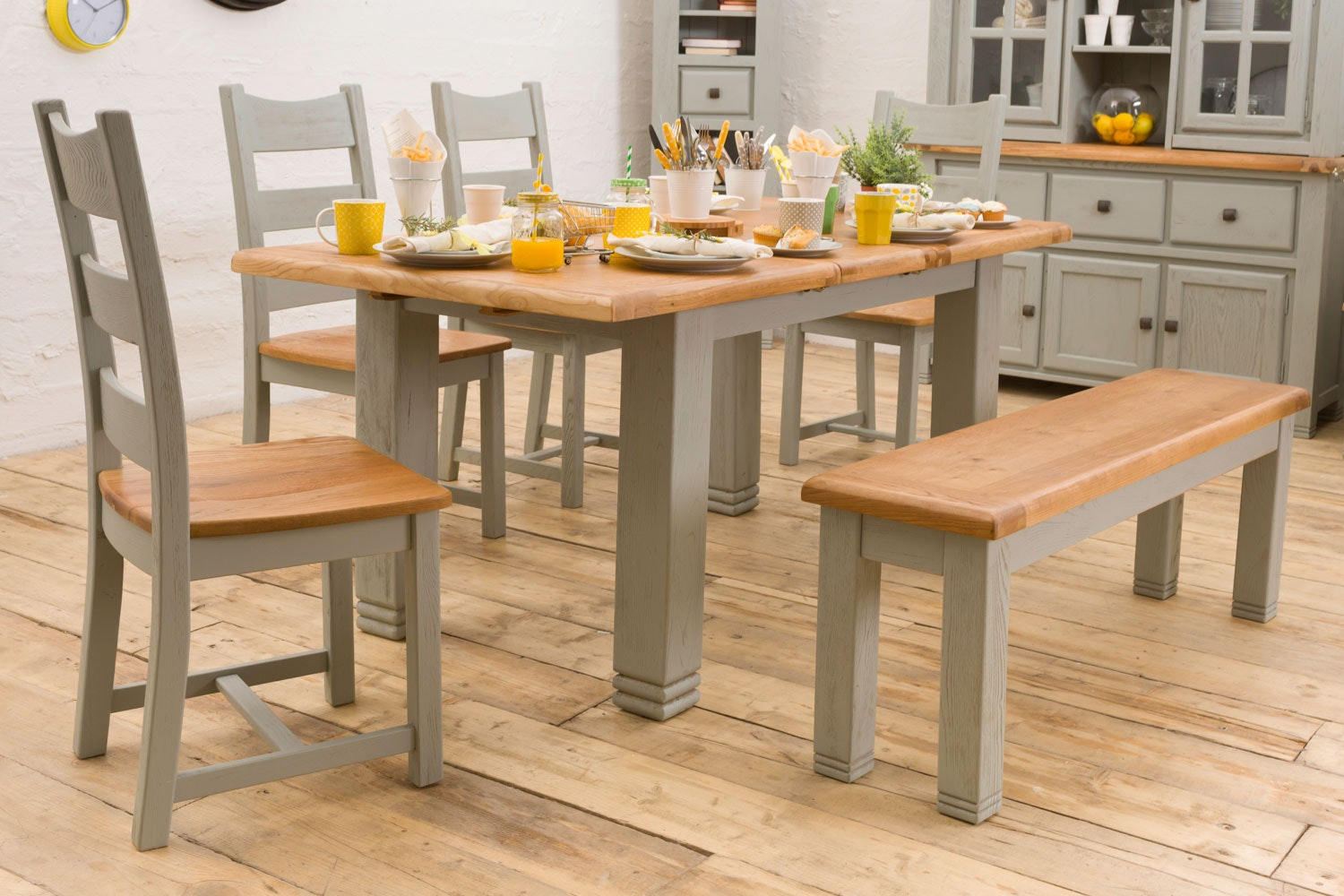 Queenstown 6-Piece Dining Set | Painted Grey