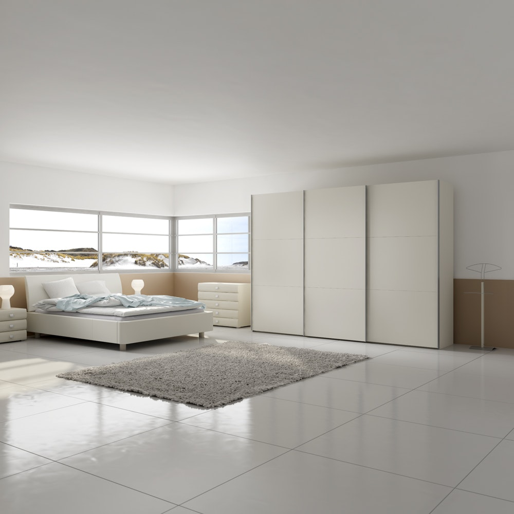 Emer Sliding Wardrobe 303Cm | White