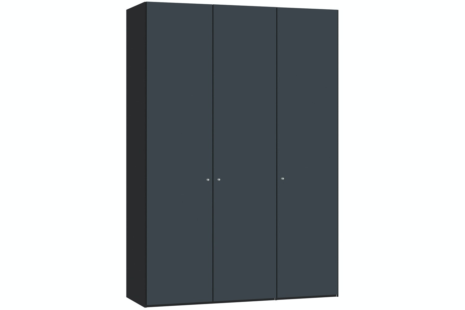 Laura Hinged 3 Door Wardrobe 152Cm | Antracite Glass Matt