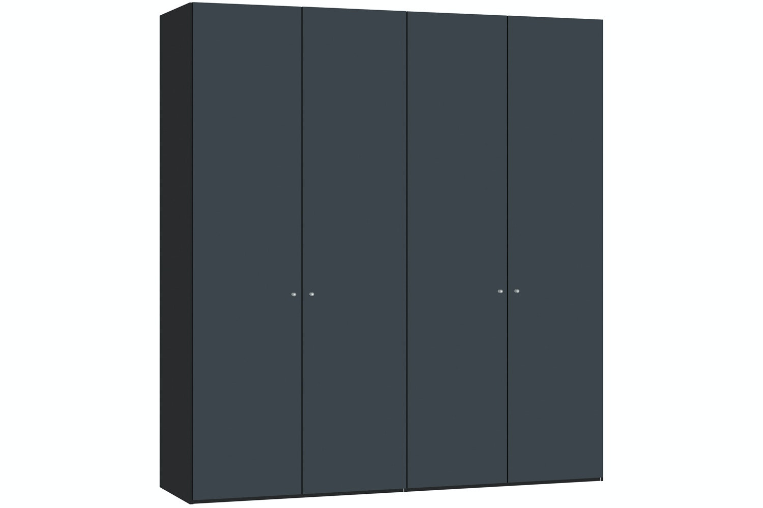 Laura Hinged 4 Door Wardrobe 203Cm | Antracite Glass Matt