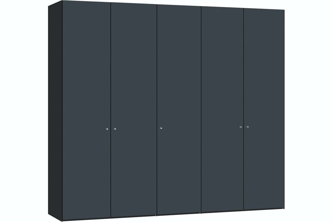 Laura Hinged 5 Door Wardrobe | Antracite Glass Matt