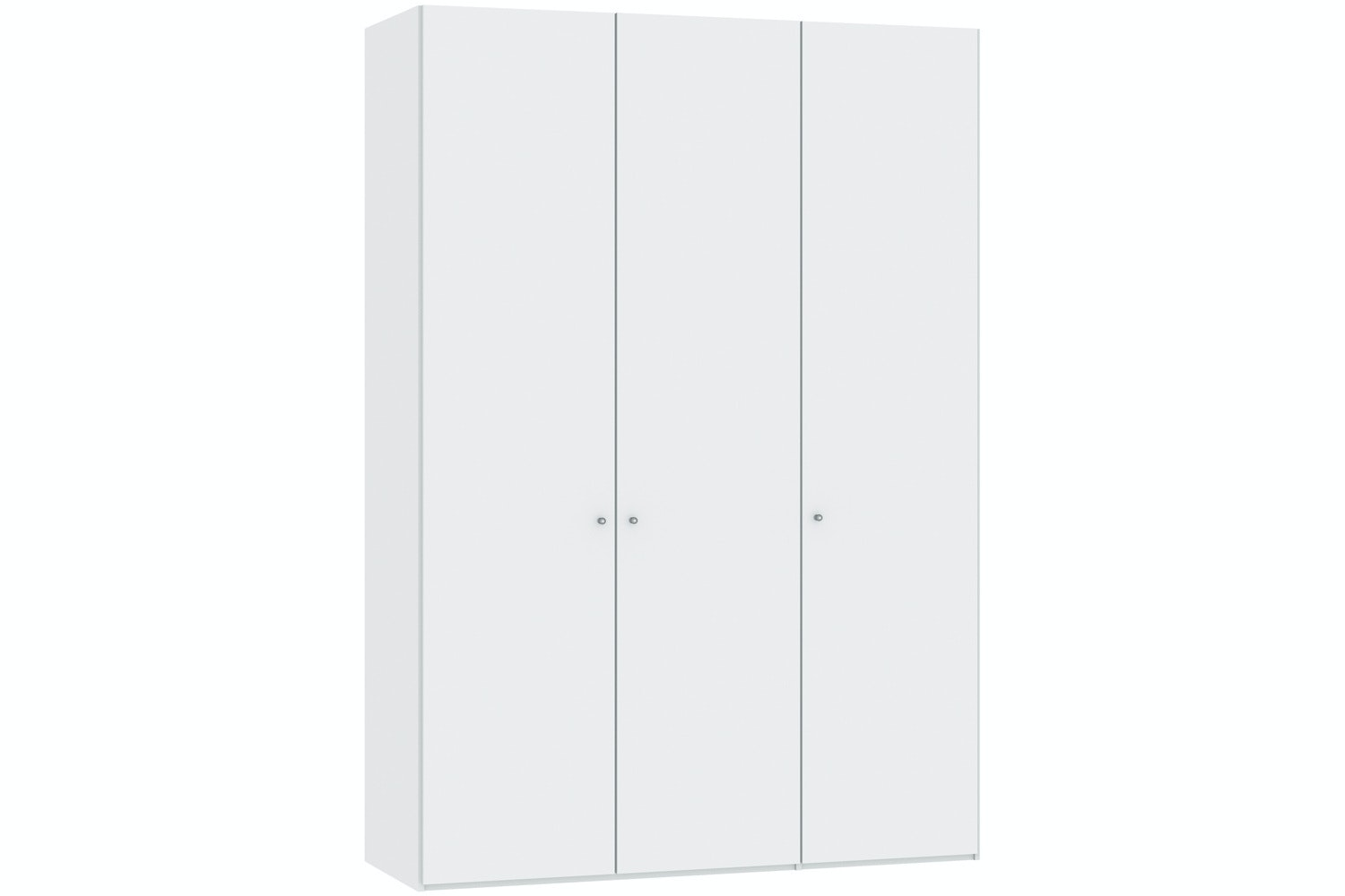Jutzler Meggan Longline 3 Door Wardrobe | White Glass Matte