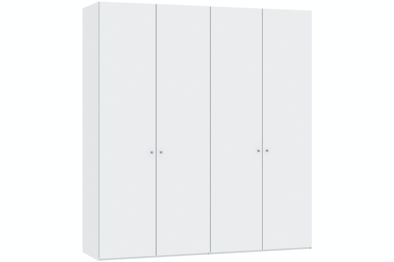 Jutzler Meggan Longline 4 Door Wardrobe | White Glass Matte