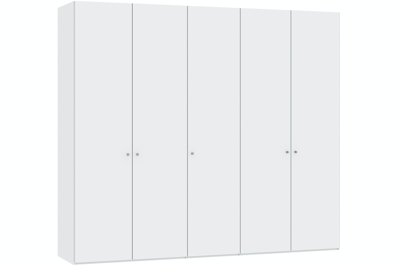 Jutzler Meggan Longline 5 Door Wardrobe | White Glass Matte