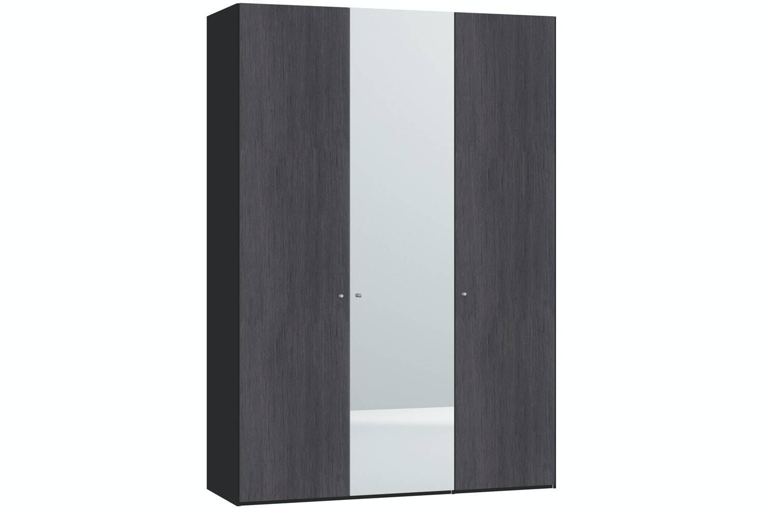 Lucy Hinged 3 Door Wardrobe 152Cm | Fino Antracite + Mirror