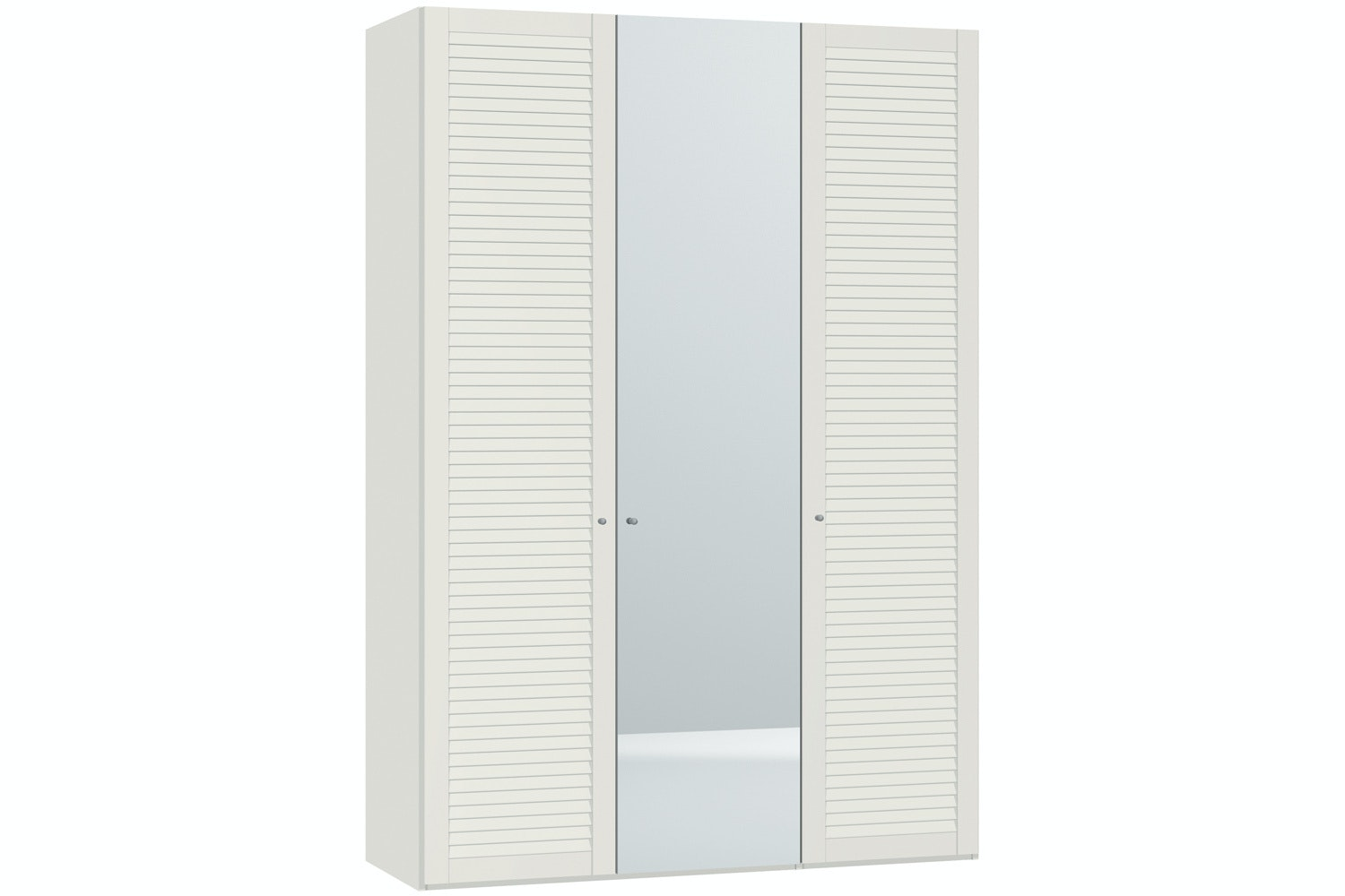 Sarah Hinged 3 Door Wardrobe 152Cm | Lamella + Mirror