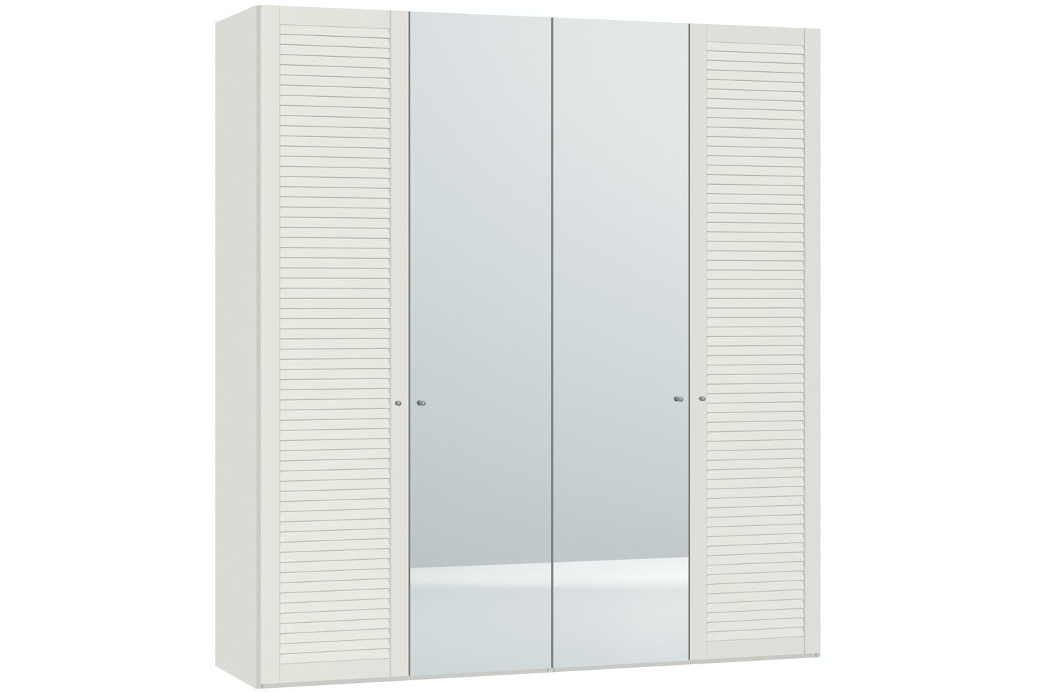 Sarah Hinged 4 Door Wardrobe 203Cm | Lamella + Mirror