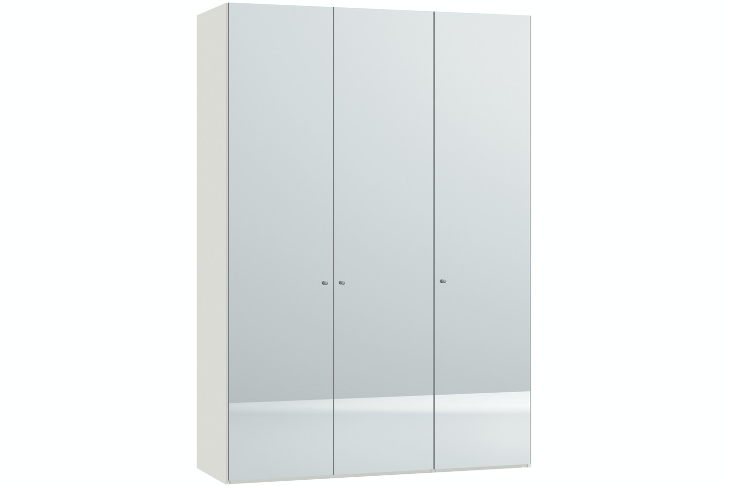 Mila Hinged 3 Door Wardrobe 152Cm | Mirror Body White