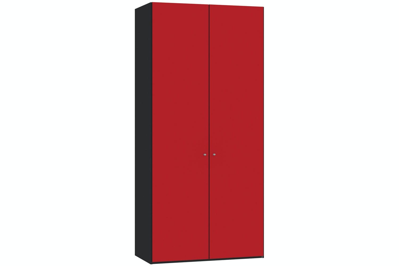 Jutzler Skye Longline 2 Door Wardrobe | Red Glass Matte