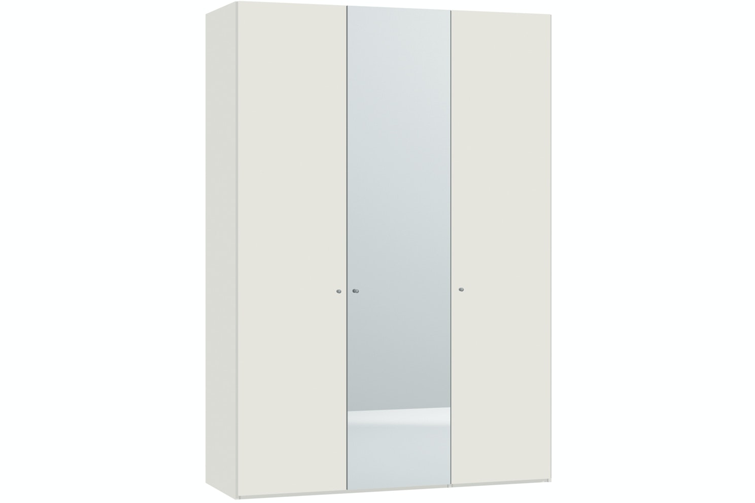 Emer Hinged 3 Door Wardrobe 152Cm | White + Mirror