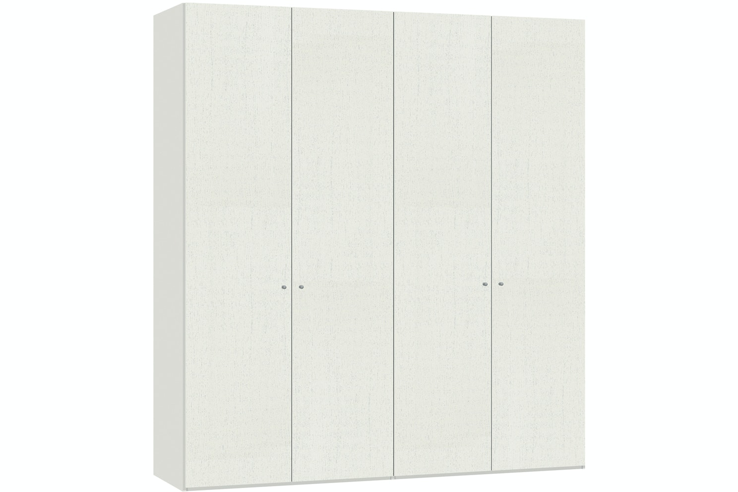 Julia Hinged 4 Door Wardrobe  203Cm | White Ash