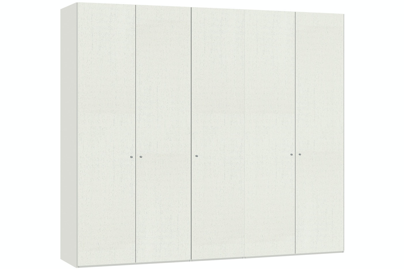Julia Hinged 5 Door Wardrobe  253Cm | White Ash