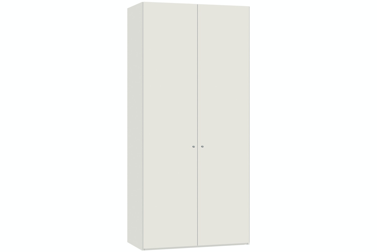 Yasmin Hinged 2 Door Wardrobe 102Cm | White High Gloss