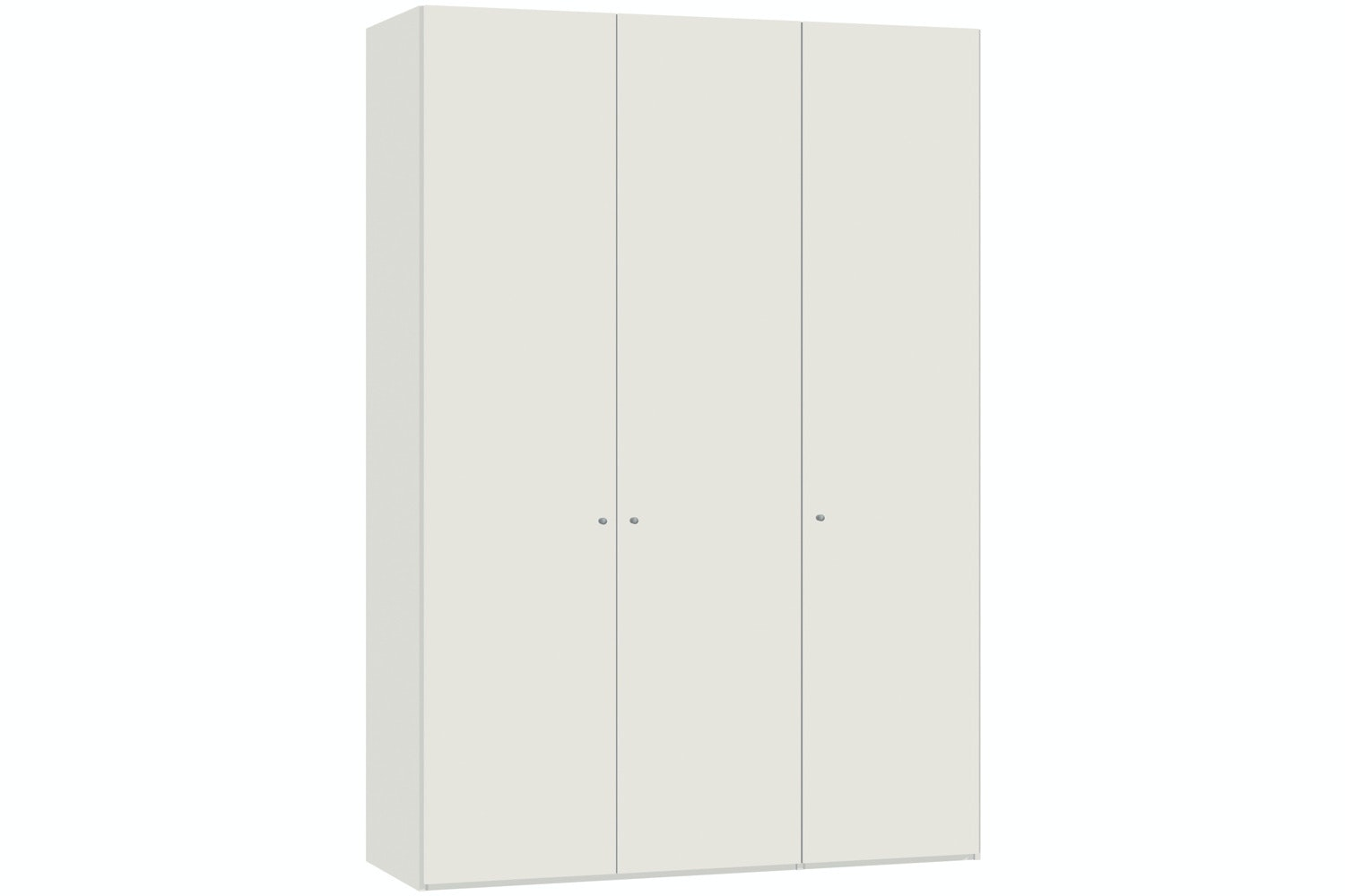 Yasmin Hinged 3 Door Wardrobe 152Cm | White High Gloss