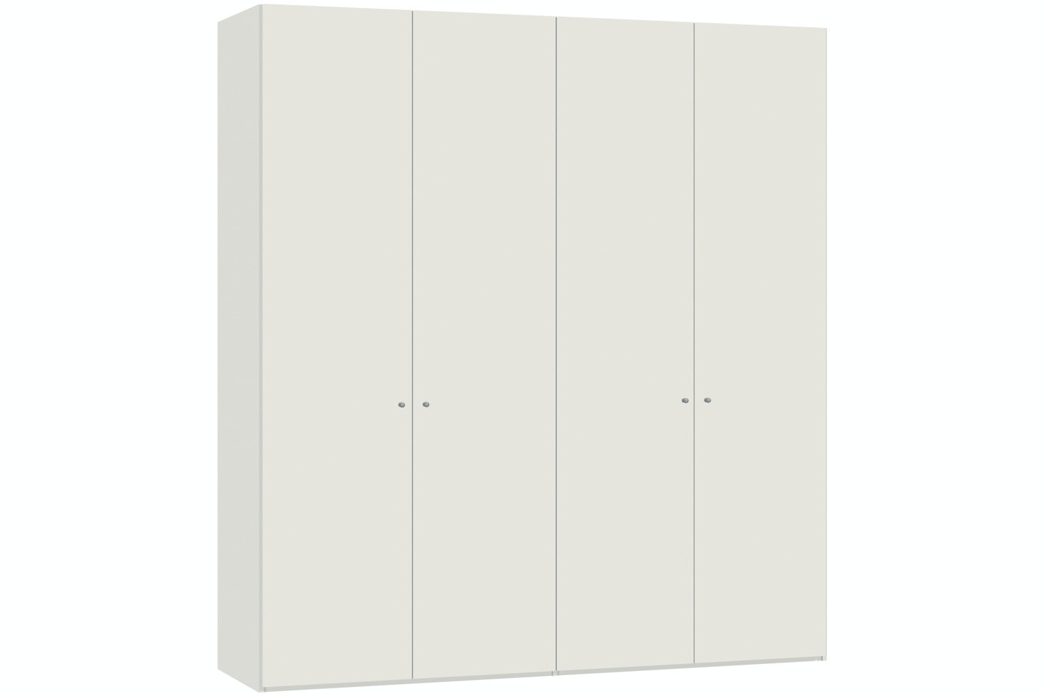 Yasmin Hinged 4 Door Wardrobe 203Cm | White High Gloss