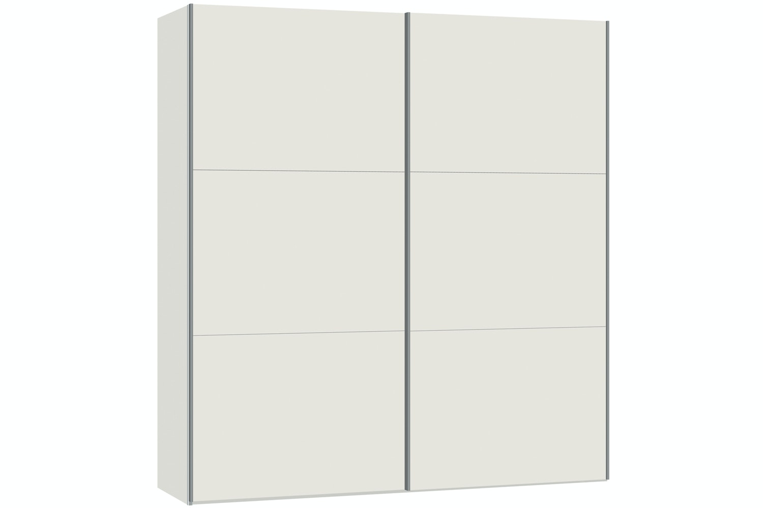 Zoe Sliding Wardrobe 203Cm | White Glass