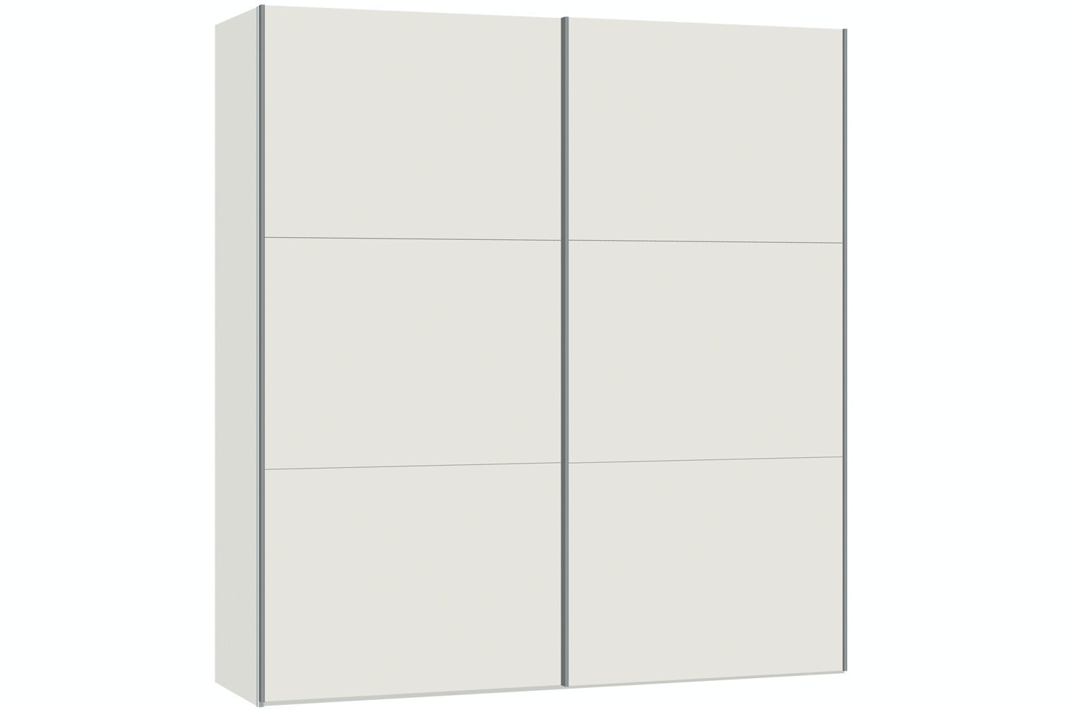 Yasmin Sliding Wardrobe 203Cm | White High Gloss
