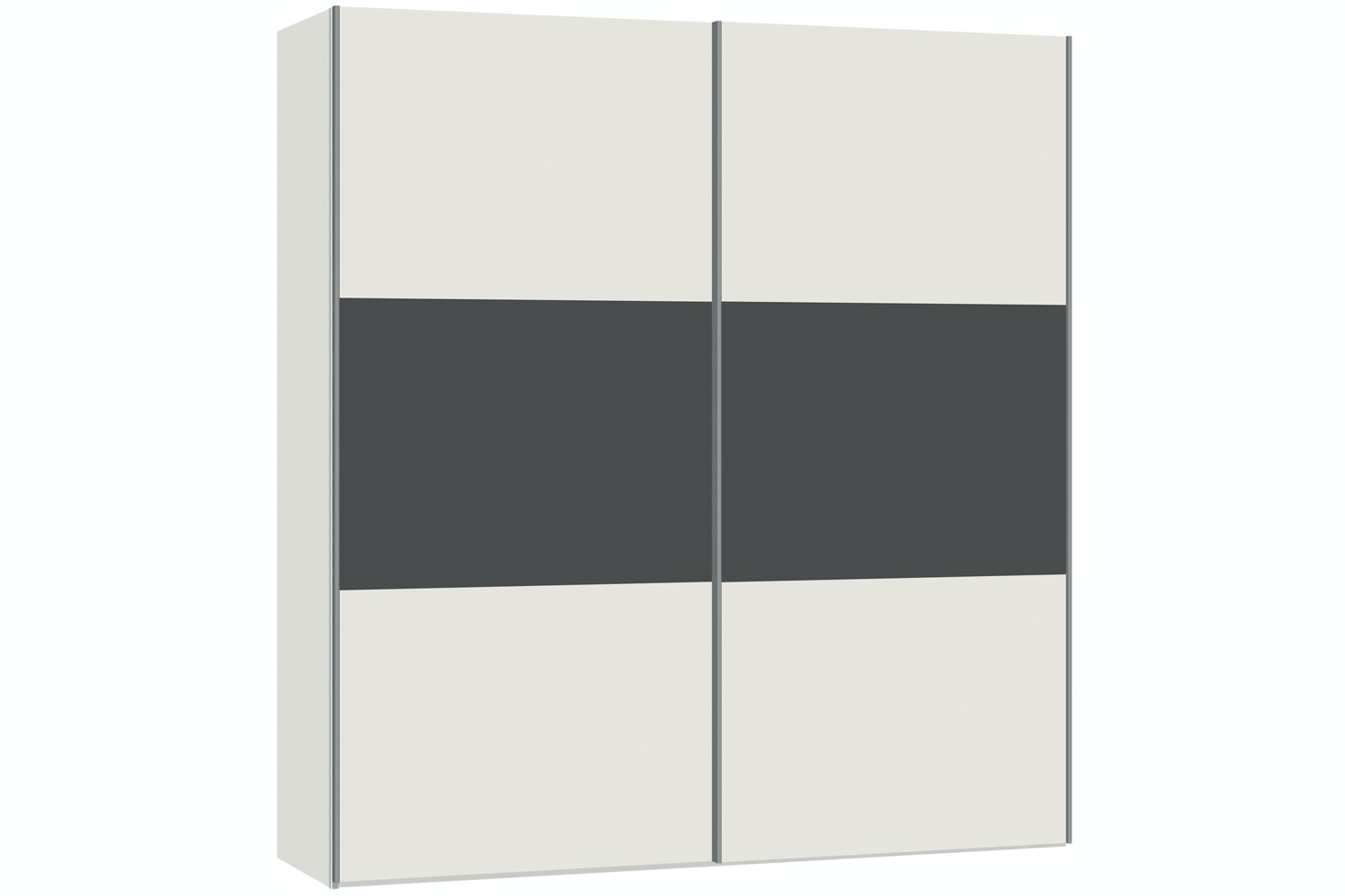 Jutzler Emer Slideline 2m Wardrobe | White with Dark Mirror